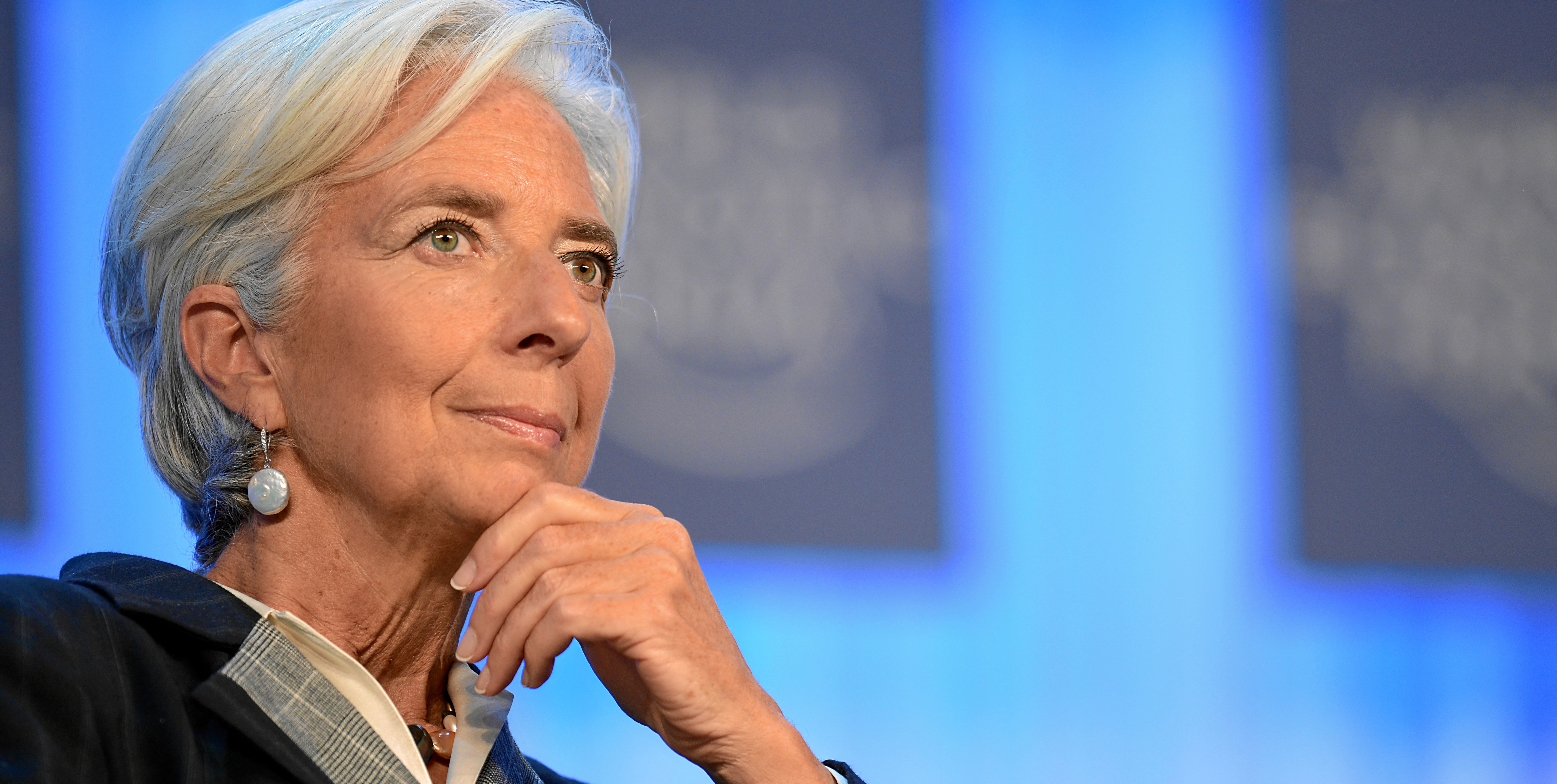 DAVOS/SWITZERLAND, 25JAN13 - Christine Lagarde, Managing Director, International Monetary Fund (IMF), Washington DC; World Economic Forum Foundation Board Member reflects during the session 'Women in Economic Decision-making' at the Annual Meeting 2013 of the World Economic Forum in Davos, Switzerland, January 25, 2013.   Copyright by World Economic Forum  swiss-image.ch/Photo Michael Wuertenberg