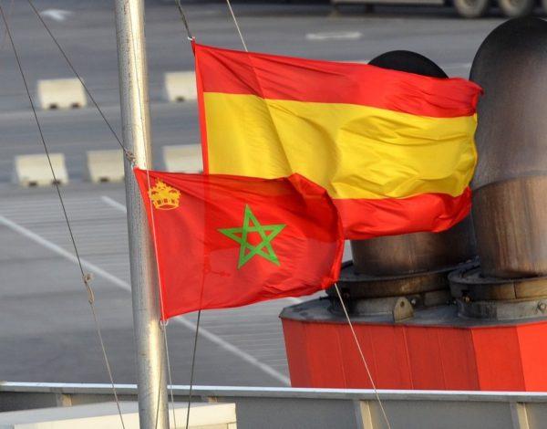 Drapeaux Espagne et Maroc