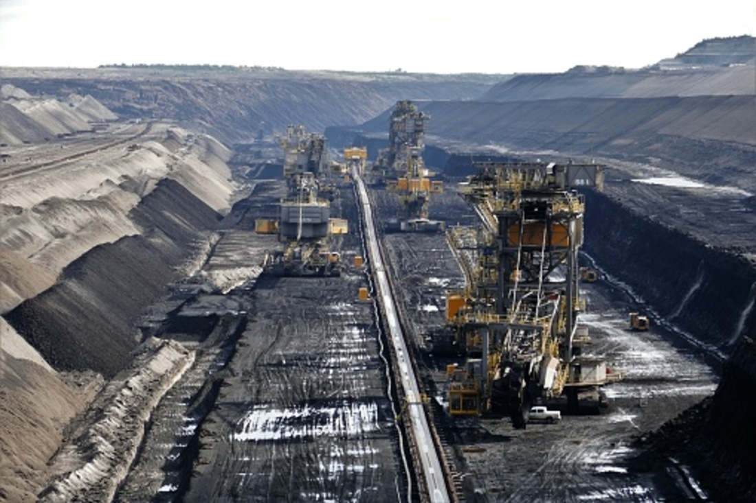 Bucket wheel excavator in a lignite mine.